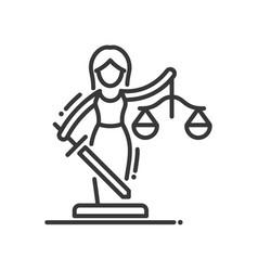justice - modern line design vector image