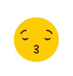 kiss emoji icon design vector image