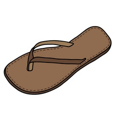 Leather sandal vector