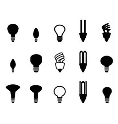 light bulbs shape collection vector image