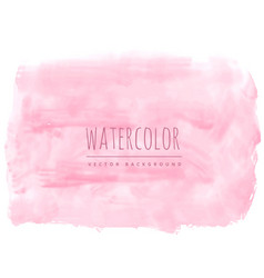 light pink soft watercolor texture stain vector image