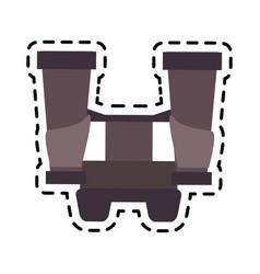 long range binoculars icon image vector image