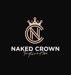 luxury crown fashion inspiration logo vector image