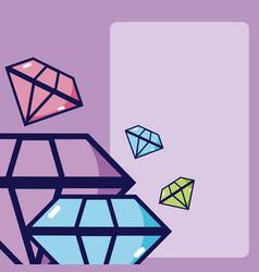 Luxury purple diamonds vector