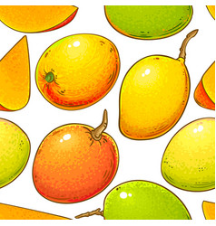 mango fruits pattern on white background vector image