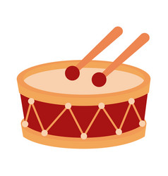 memorial day drum and drumsticks instrument vector image