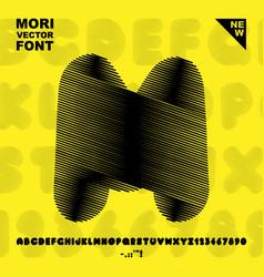 Mori font vector