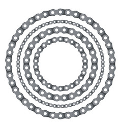 Motorcycle chain round frames vector
