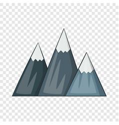 Mountain icon cartoon style vector