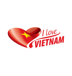 National flag vietnam in shape a vector