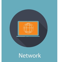 Network Flat Concept Icon vector
