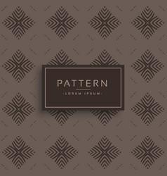 old vintage style pattern design vector image