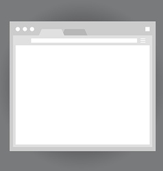 Opened browser window template vector image
