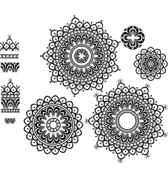 Ornament Pattern with pattern brash vector image