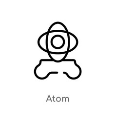 outline atom icon isolated black simple line vector image