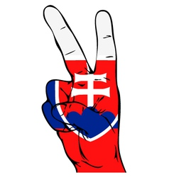 Peace Sign of the Slovak flag vector image