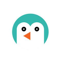 Penguin cartoon animal head vector
