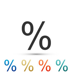 percent symbol discount icon on white background vector image