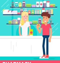 Pharmacy Boy Girl vector image