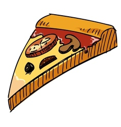 Pizza piece icon vector image