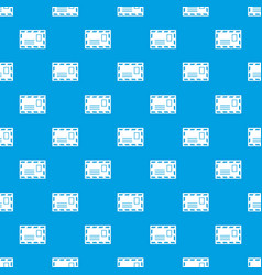 postage envelope with stamp pattern seamless blue vector image
