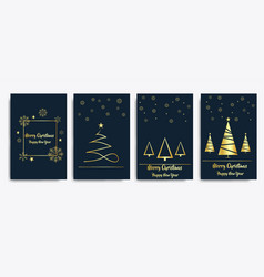 Prinset card merry christmas and happy new vector