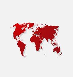 Realistic paper sticker map world vector