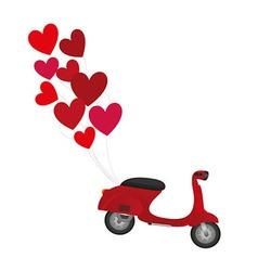 Red motorbike vector