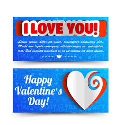 romantic lovely horizontal banners vector image