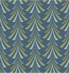 Seamless Christmas pattern Firs trees on dark vector