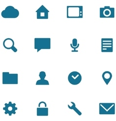 Set icons and buttons vector image