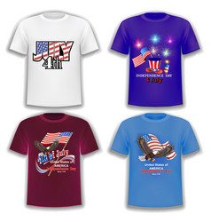 set print t-shirts on theme america vector image