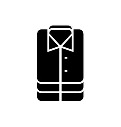 shirt-16 icon black sign on vector image