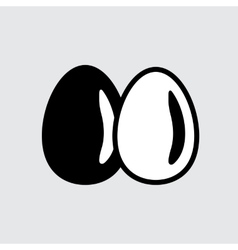 Simple egg icon vector image