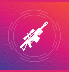 sniper rifle icon pictogram vector image