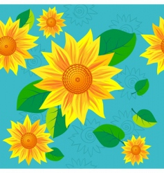 sunflower seamless vector image