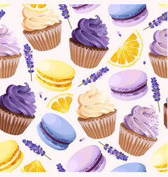Sweets seamless pattern vector