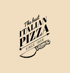 Vintage hipster italian food logo modern vector