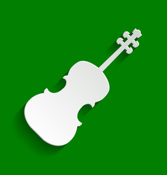 violin sign paper whitish vector image