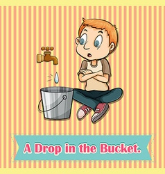 Water dropping in bucket vector image