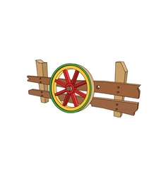 Wooden-Carts-Wheel-380x400 vector image