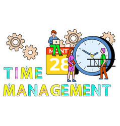 workers time management and consulting vector image