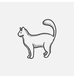 Cat sketch icon vector image