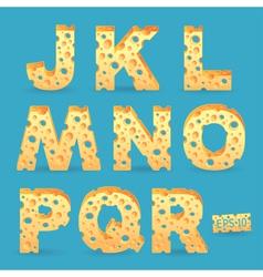 Cheese alphabet vector image