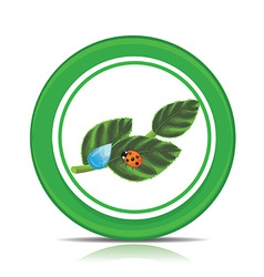 Eco green leaf icon vector image vector image