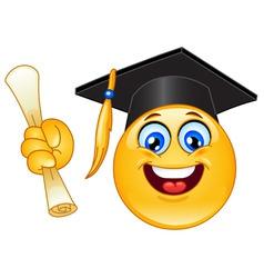 graduation emoticon vector image