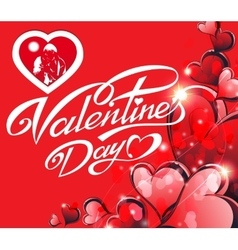Holiday card - happy Valentine s Day vector image vector image