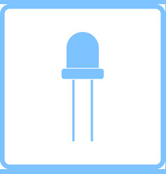 light-emitting diode icon vector image vector image
