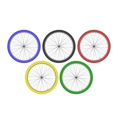 Bike athletes sporting championship international vector