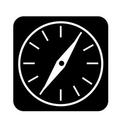 compass guide application icon vector image